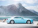 Фото авто Rolls-Royce Dawn 1 поколение, ракурс: 270 цвет: голубой