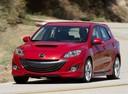 Фото авто Mazda 3 BL, ракурс: 45 цвет: красный