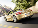 Фото авто Porsche Boxster 981, ракурс: 135 цвет: бежевый