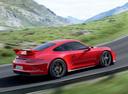 Фото авто Porsche 911 991, ракурс: 225 цвет: красный