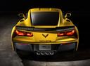 Фото авто Chevrolet Corvette C7, ракурс: 180 цвет: желтый