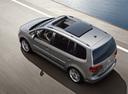 Фото авто Volkswagen Touran 1 поколение [2-й рестайлинг], ракурс: сверху цвет: серый