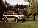 Фото авто Mitsubishi Pajero 2 поколение, ракурс: 315 цвет: серебряный