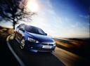 Фото авто Mitsubishi Lancer X, ракурс: 315 цвет: синий
