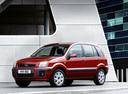 Фото авто Ford Fusion 1 поколение [рестайлинг], ракурс: 45 цвет: красный