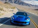Фото авто Chevrolet Corvette C7,  цвет: голубой