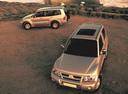 Фото авто Mitsubishi Pajero 3 поколение [рестайлинг], ракурс: сверху цвет: бежевый