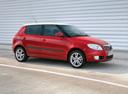 Фото авто Skoda Fabia 5J, ракурс: 270 цвет: красный