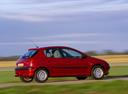 Фото авто Peugeot 206 1 поколение [рестайлинг], ракурс: 270 цвет: бордовый