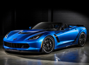 Фото авто Chevrolet Corvette C7, ракурс: 45 цвет: голубой