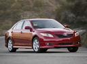 Фото авто Toyota Camry XV40, ракурс: 315 цвет: красный