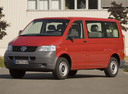 Фото авто Volkswagen Transporter T5, ракурс: 45 цвет: красный