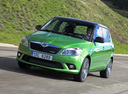 Фото авто Skoda Fabia 5J [рестайлинг], ракурс: 45 цвет: зеленый