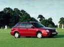 Фото авто Subaru Impreza 2 поколение, ракурс: 270 цвет: красный