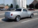 Фото авто Chevrolet SSR 1 поколение, ракурс: 225 цвет: серебряный