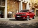 Фото авто Skoda Fabia NJ [рестайлинг], ракурс: 45 цвет: красный