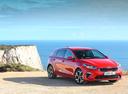 Фото авто Kia Cee'd 3 поколение, ракурс: 315 цвет: красный