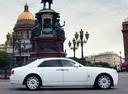 Фото авто Rolls-Royce Ghost 1 поколение, ракурс: 270 цвет: белый