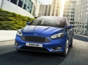 Фото авто Ford Focus 3 поколение [рестайлинг], ракурс: 45 цвет: синий