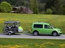 Фото авто Volkswagen Caddy 3 поколение [рестайлинг], ракурс: 270 цвет: зеленый