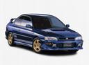 Фото авто Subaru Impreza 1 поколение [рестайлинг], ракурс: 315 цвет: синий
