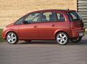 Фото авто Opel Meriva 1 поколение [рестайлинг], ракурс: 90 цвет: красный