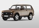 Фото авто ВАЗ (Lada) 4x4 1 поколение [2-й рестайлинг], ракурс: 45 цвет: коричневый