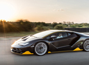 Фото авто Lamborghini Centenario 1 поколение, ракурс: 90 цвет: черный