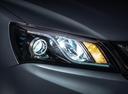 Фото авто Geely Emgrand 7 1 поколение [рестайлинг], ракурс: передние фары цвет: мокрый асфальт