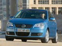 Фото авто Volkswagen Polo 4 поколение [рестайлинг],  цвет: голубой