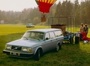 Фото авто Volvo 240 1 поколение, ракурс: 45 цвет: голубой