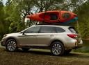 Фото авто Subaru Outback 5 поколение, ракурс: 90 цвет: бежевый