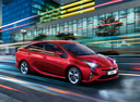Фото авто Toyota Prius 4 поколение, ракурс: 315 цвет: красный