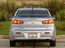 Фото авто Mitsubishi Lancer X, ракурс: 180 цвет: серебряный