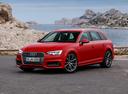 Фото авто Audi A4 B9, ракурс: 45 цвет: красный