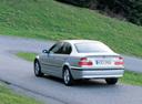 Фото авто BMW 3 серия E46 [рестайлинг], ракурс: 135 цвет: серебряный