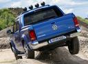 Фото авто Volkswagen Amarok 1 поколение [рестайлинг], ракурс: 180 цвет: синий