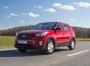 Фото авто Hyundai Creta 1 поколение, ракурс: 45 цвет: красный