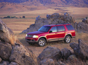 Фото авто Ford Explorer 3 поколение, ракурс: 90 цвет: красный
