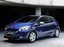 Фото авто Peugeot 208 1 поколение, ракурс: 45 цвет: синий