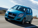 Фото авто Suzuki Splash 1 поколение [рестайлинг], ракурс: 45 цвет: голубой