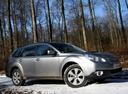 Фото авто Subaru Outback 4 поколение, ракурс: 315 цвет: серебряный