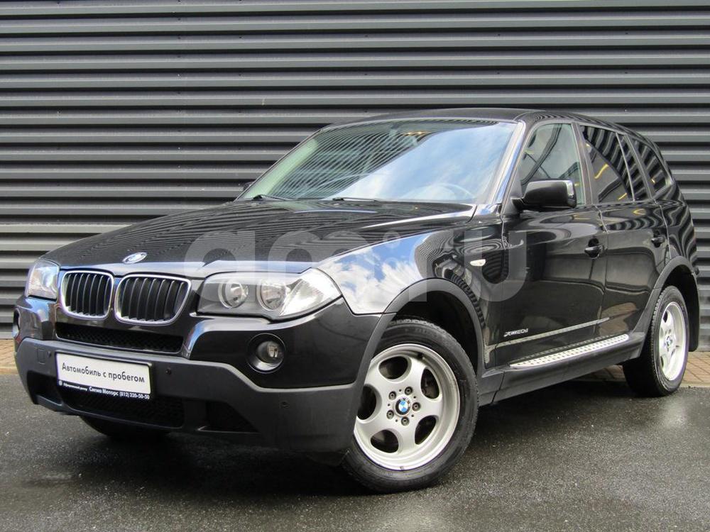 BMW X3 с пробегом, черный , отличное состояние, 2009 года выпуска, цена 788 300 руб. в автосалоне  ()