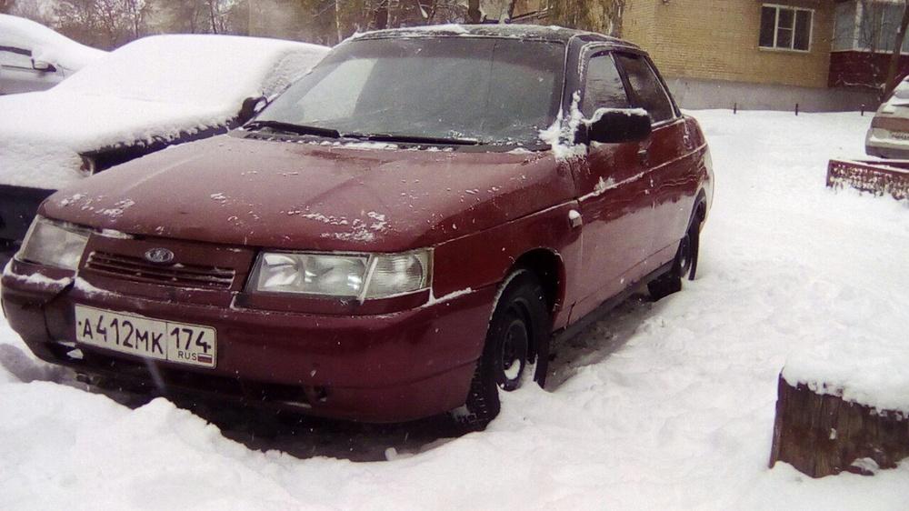 Подержанный ВАЗ (Lada) 2110, хорошее состояние, бордовый металлик, 1999 года выпуска, цена 40 000 руб. в Челябинской области