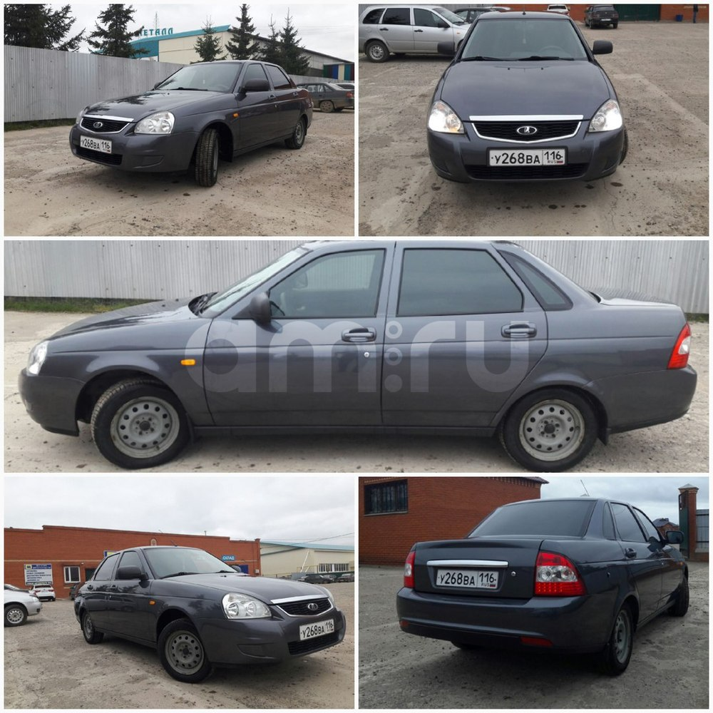 Подержанный ВАЗ (Lada) Priora, отличное состояние, серый , 2014 года выпуска, цена 338 000 руб. в республике Татарстане