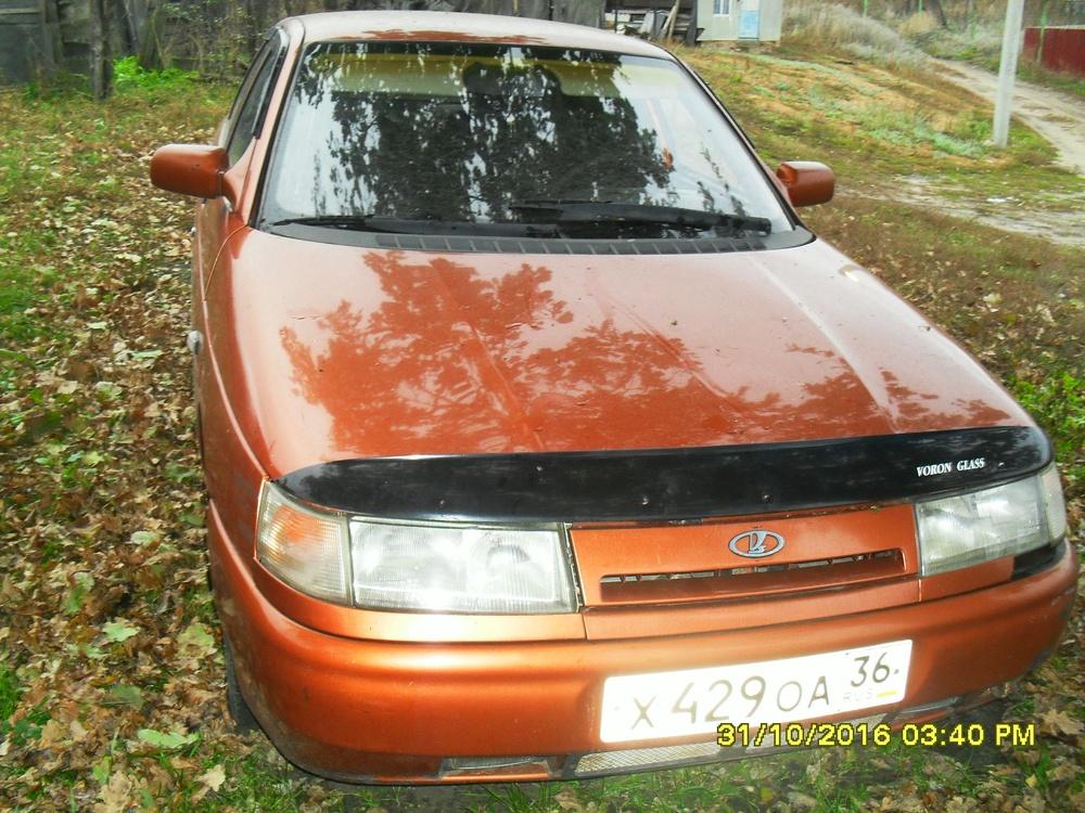 Подержанный ВАЗ (Lada) 2110, среднее состояние, оранжевый металлик, 1997 года выпуска, цена 70 000 руб. в Воронежской области
