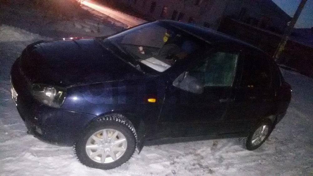 Подержанный ВАЗ (Lada) Kalina, хорошее состояние, фиолетовый , 2007 года выпуска, цена 140 000 руб. в Челябинской области