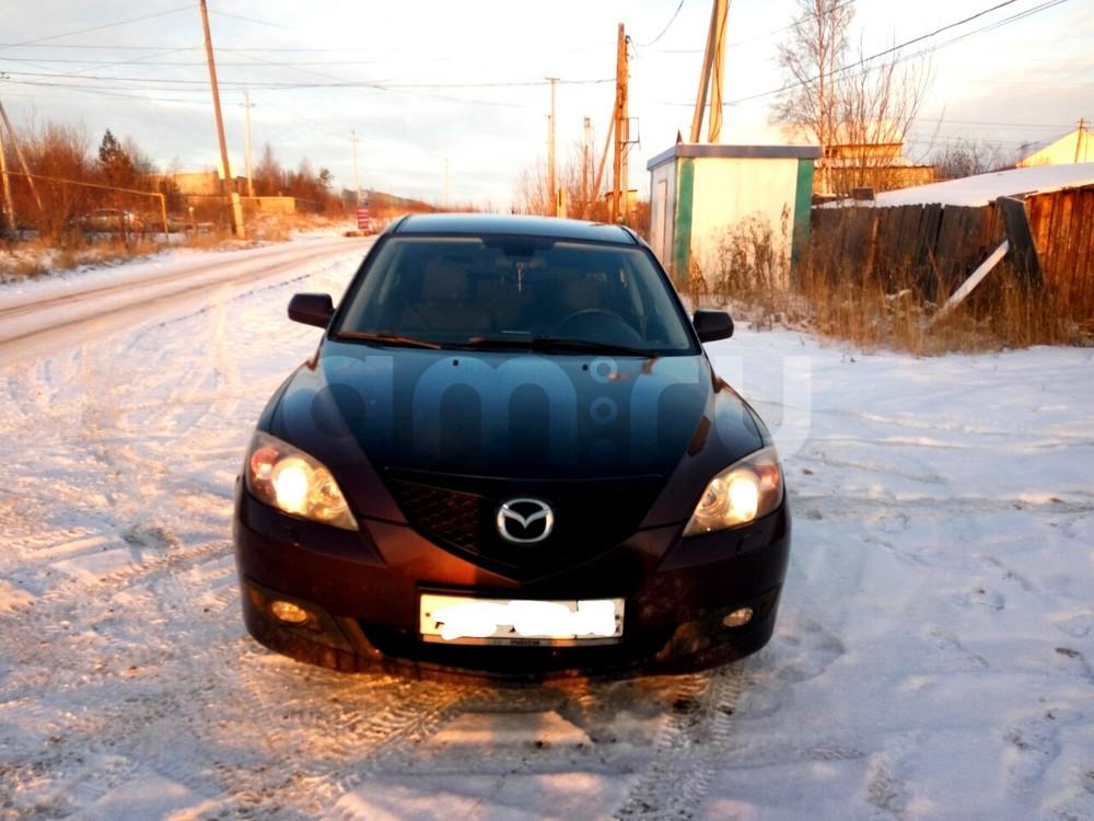 Подержанный Mazda 3, отличное состояние, вишневый , 2006 года выпуска, цена 310 000 руб. в ао. Ханты-Мансийском Автономном округе - Югре