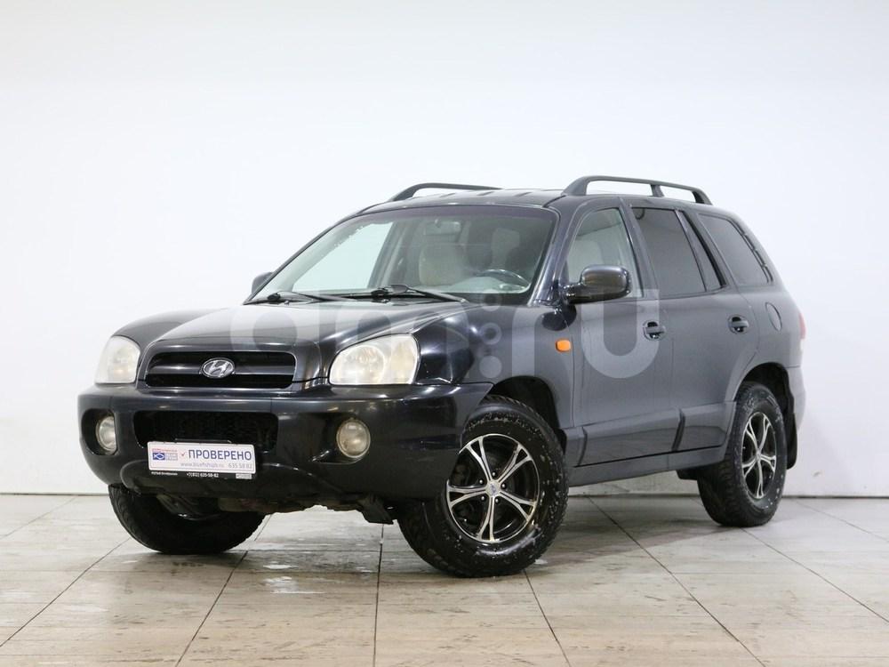 Hyundai Santa Fe с пробегом, черный перламутр, отличное состояние, 2008 года выпуска, цена 415 000 руб. в автосалоне РОЛЬФ Октябрьская Blue Fish (Санкт-Петербург, наб. Октябрьская, д. 8, корп. 2)