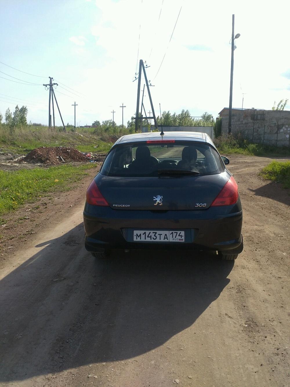 Подержанный Peugeot 308, хорошее состояние, синий , 2008 года выпуска, цена 360 000 руб. в Челябинской области
